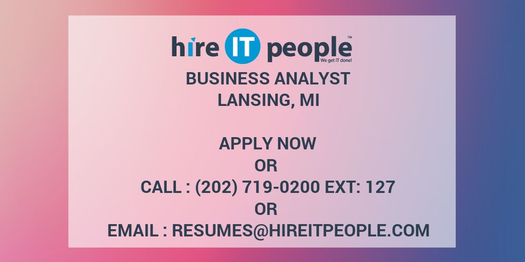 business analyst - hire it people