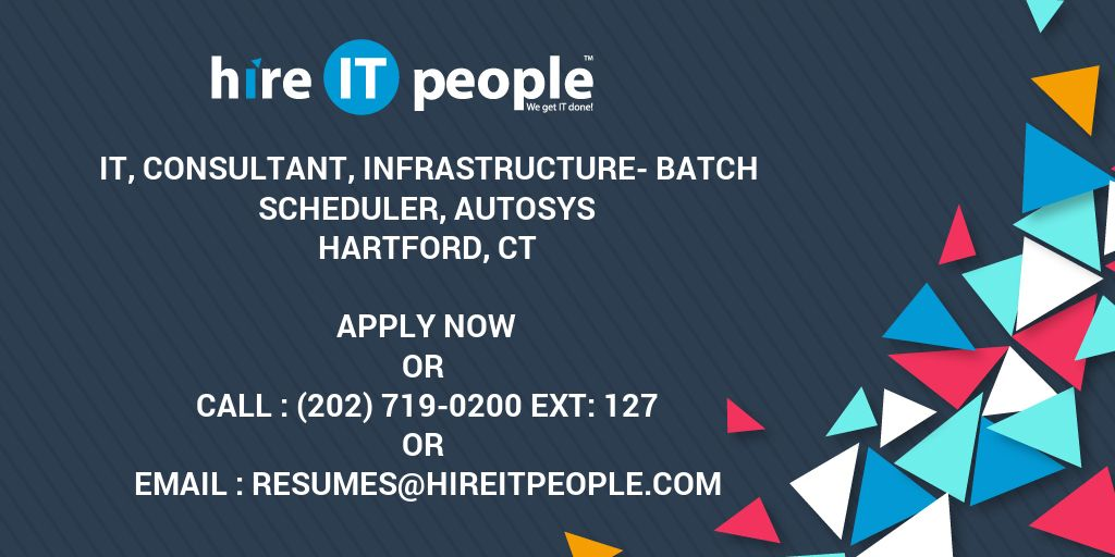 it consultant infrastructure batch scheduler autosys hire it