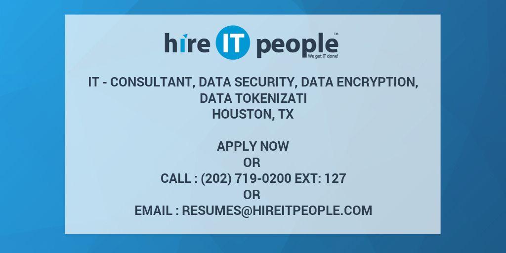 IT - Consultant, Data Security, Data Encryption, Data Tokenizati ...
