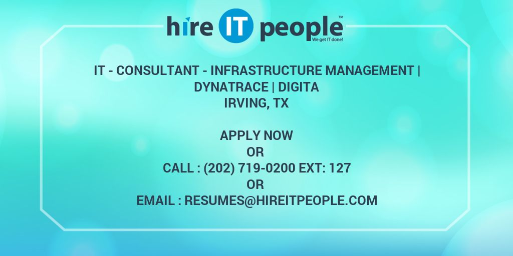 IT - Consultant - Infrastructure Management | Dynatrace