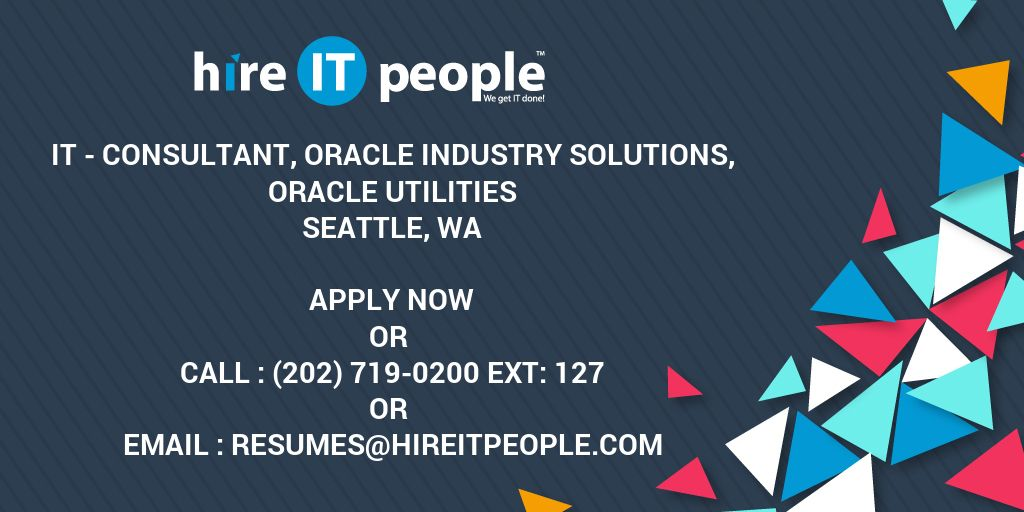 IT - Consultant, Oracle Industry Solutions, Oracle Utilities
