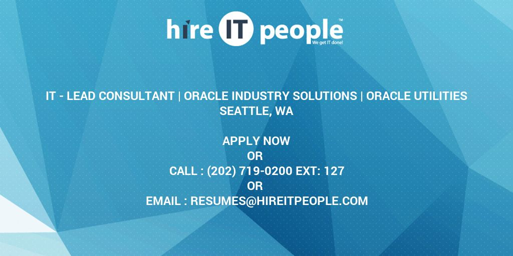 IT - Lead Consultant | Oracle Industry Solutions | Oracle