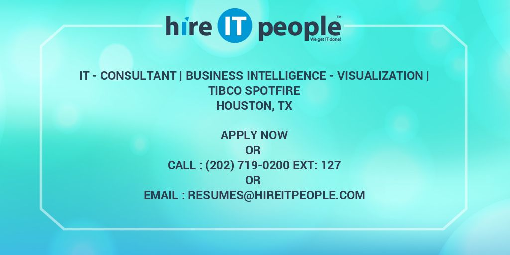 IT - Consultant | Business Intelligence - Visualization | TIBCO