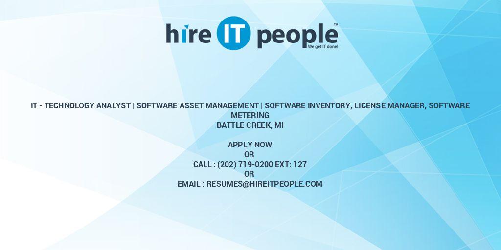IT - Technology Analyst   Software asset management   Software