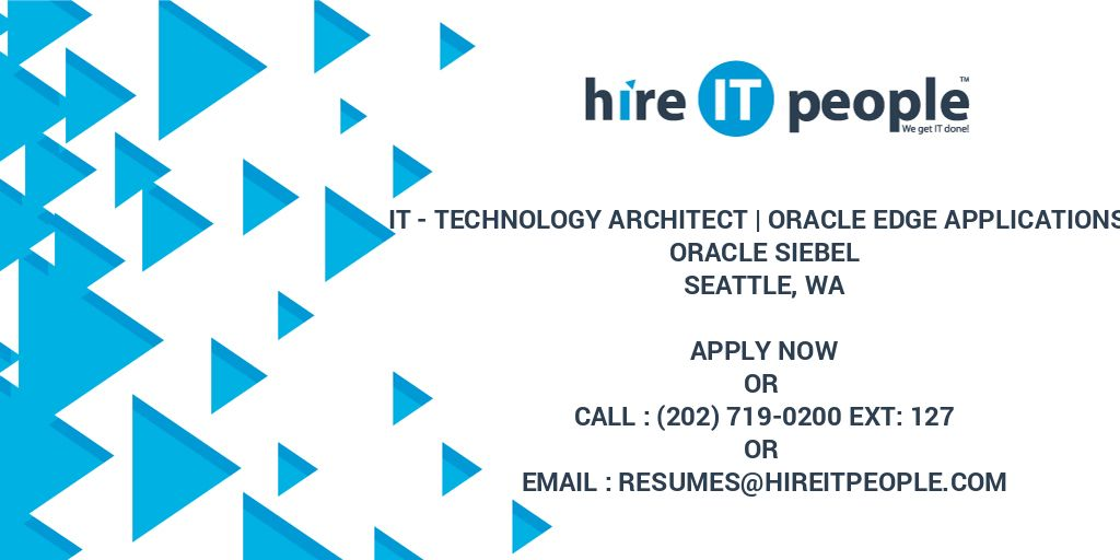 IT - Technology Architect | Oracle Edge Applications