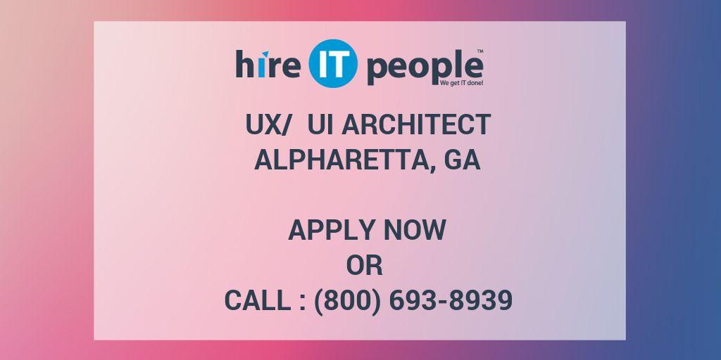 ux   ui architect - hire it people