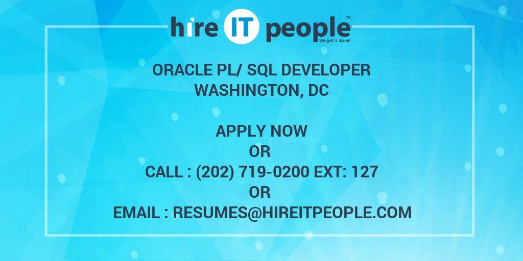 oracle pl  sql developer - hire it people