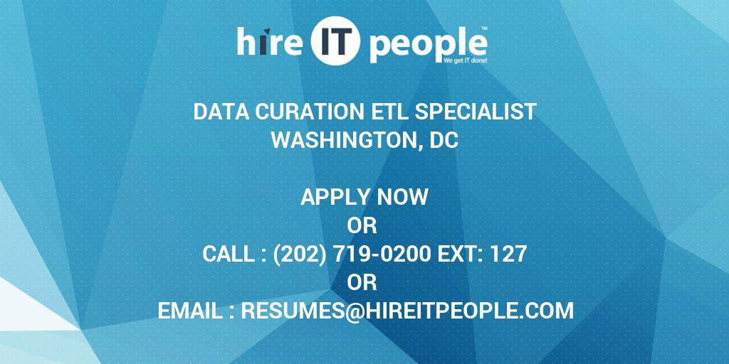 Etl specialist resume