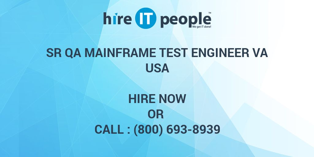 Sr QA Mainframe Test Engineer VA