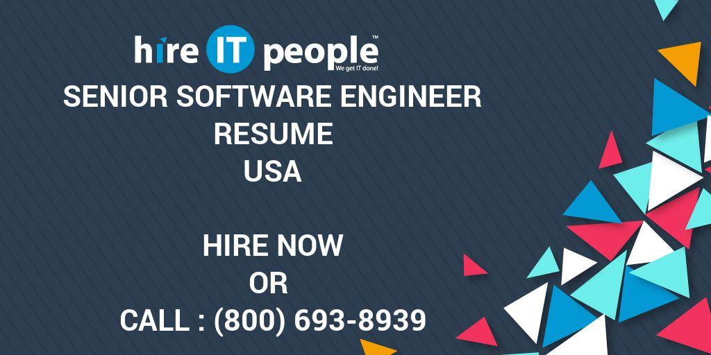 Senior Software Engineer Resume - Hire IT People - We get IT done