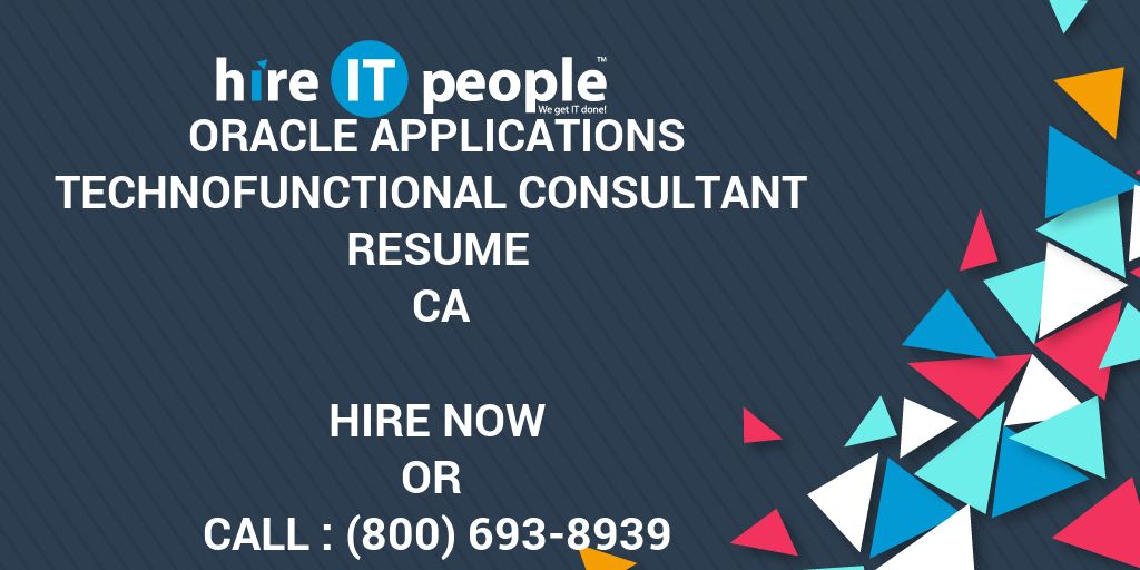 Oracle Applications TechnoFunctional Consultant Resume CA