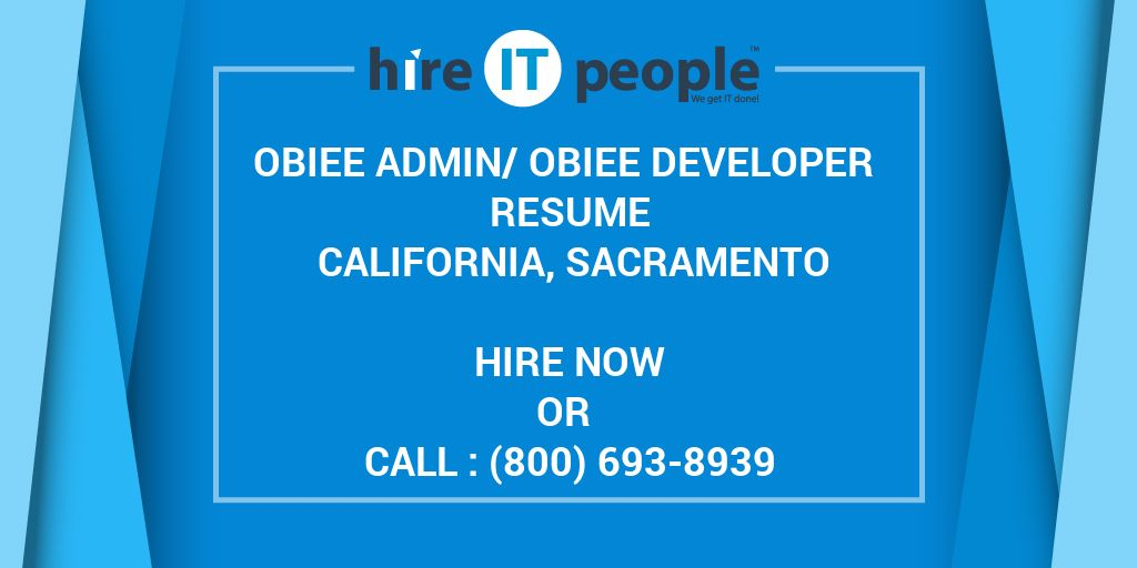 OBIEE Admin Developer Resume CALIFORNIA Sacramento