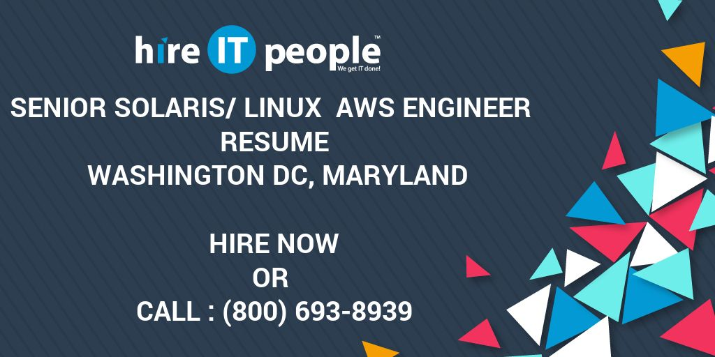 Senior Solaris/Linux AWS Engineer Resume Washington DC