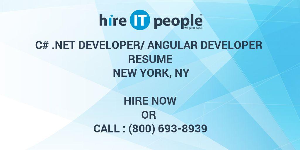 C#  Net Developer/Angular Developer Resume New York, NY