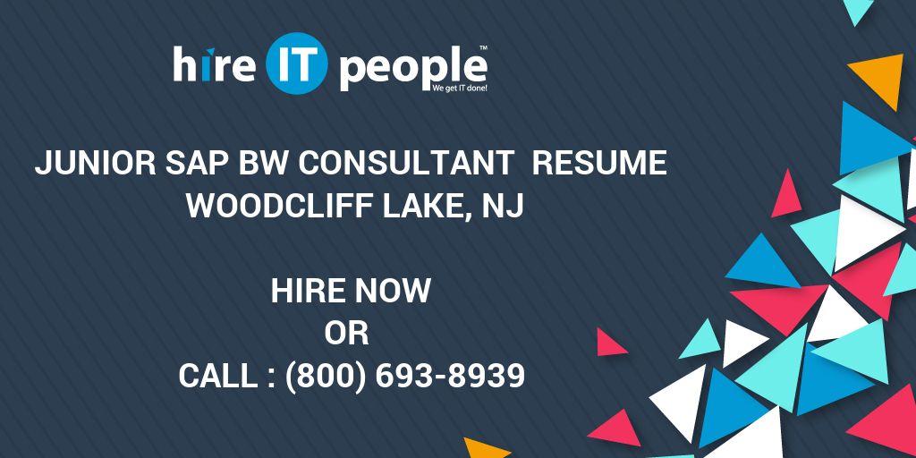 junior sap bw consultant resume woodcliff lake nj hire it