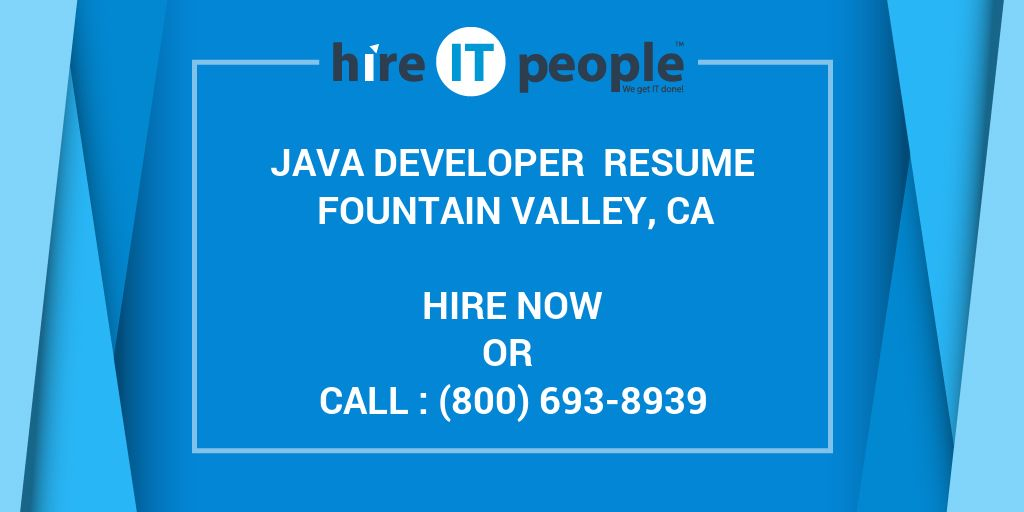 java developer resume fountain valley  ca