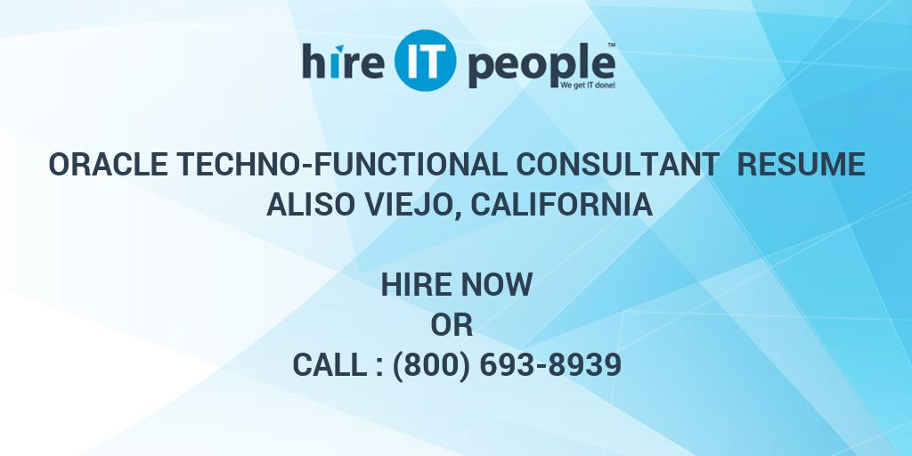 Oracle Techno-Functional Consultant Resume Aliso Viejo