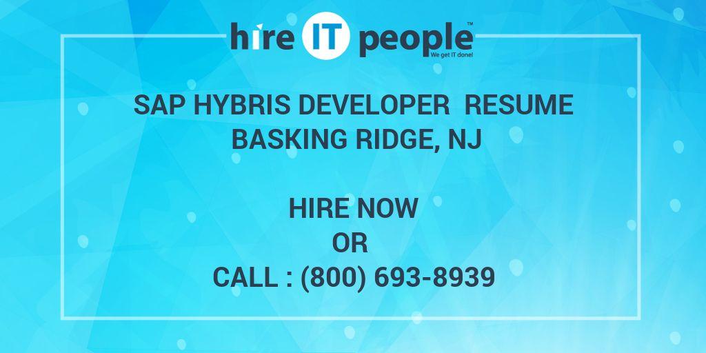 SAP Hybris Developer Resume Basking Ridge, NJ - Hire IT People - We