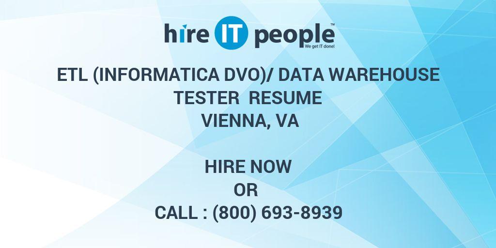 Etl Informatica Dvo Data Warehouse Tester Resume Vienna