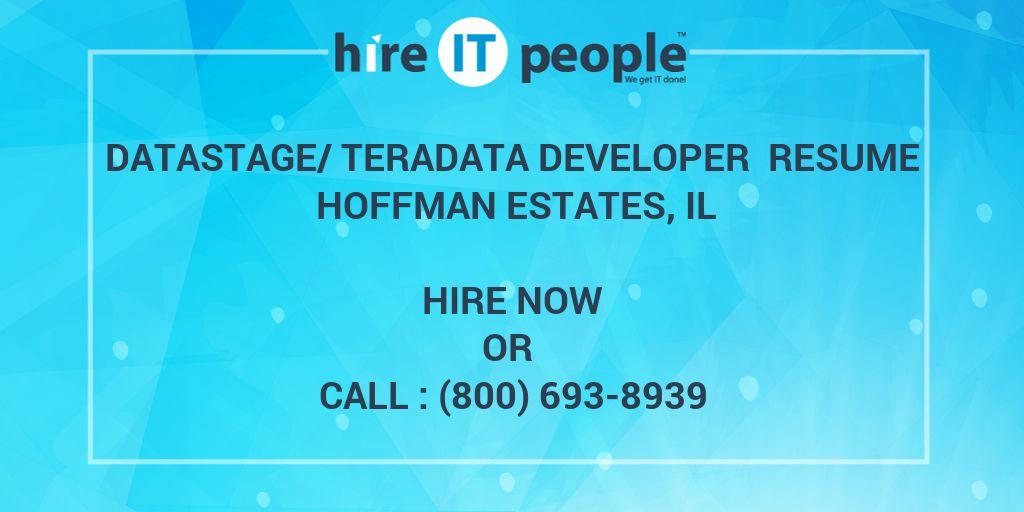 DataStage/Teradata Developer Resume Hoffman Estates, IL