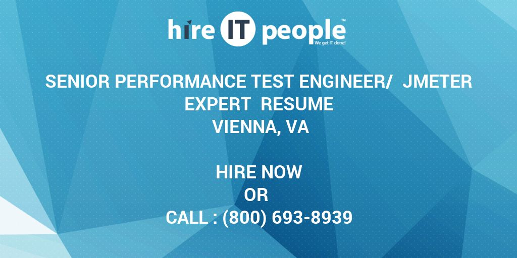 Senior Performance Test Engineer/ JMeter Expert Resume