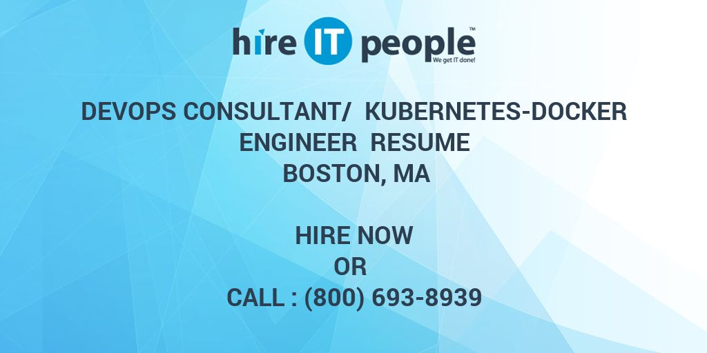 devops consultant kubernetes docker engineer resume boston ma