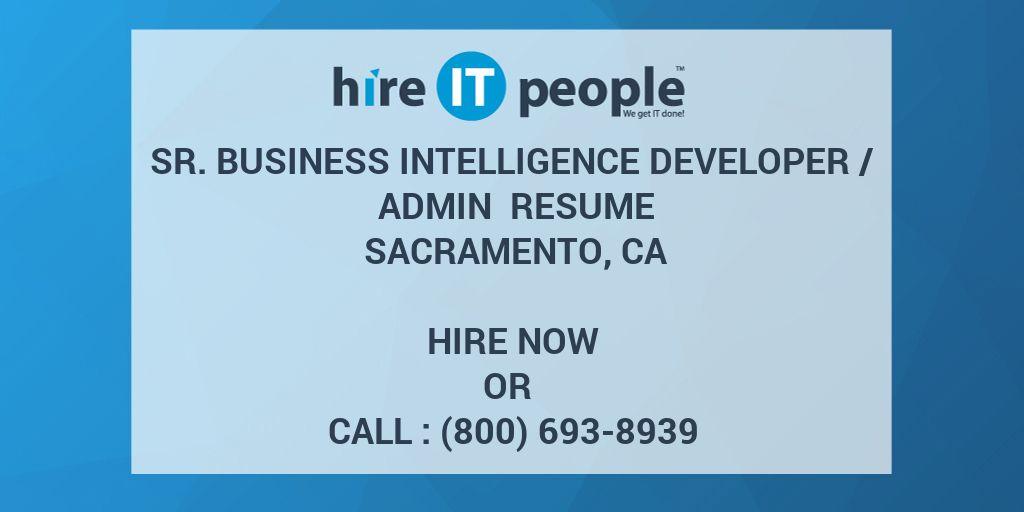 sr business intelligence developer  admin resume