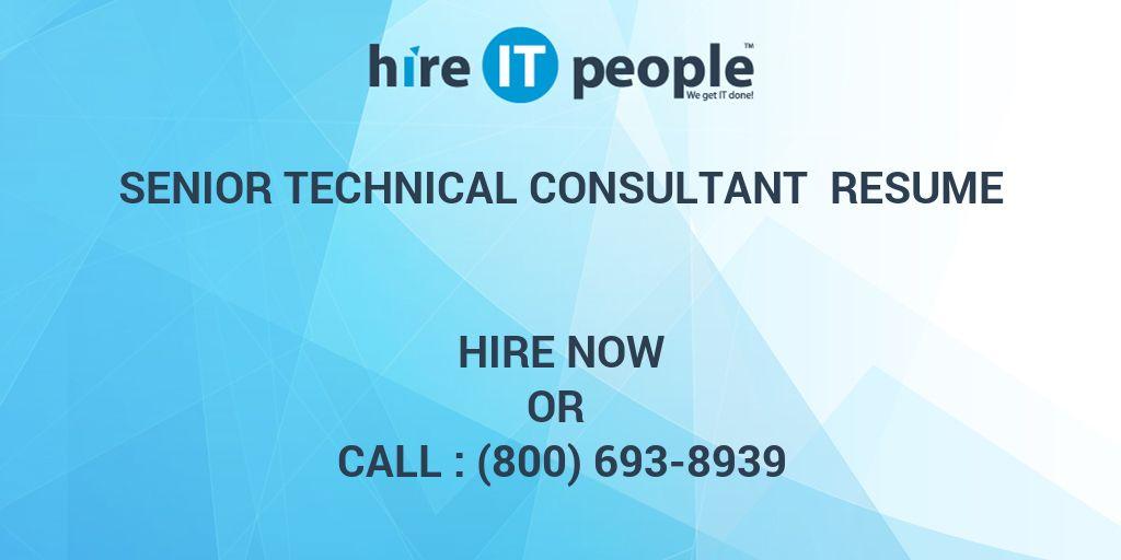 senior consultant resume