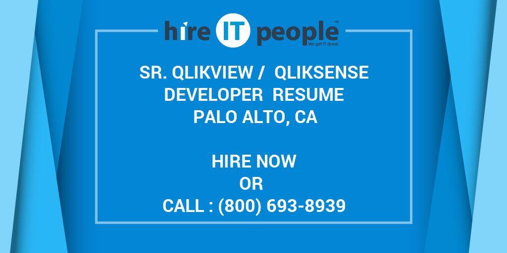 Sr  QlikView / QlikSense Developer Resume Palo Alto, CA