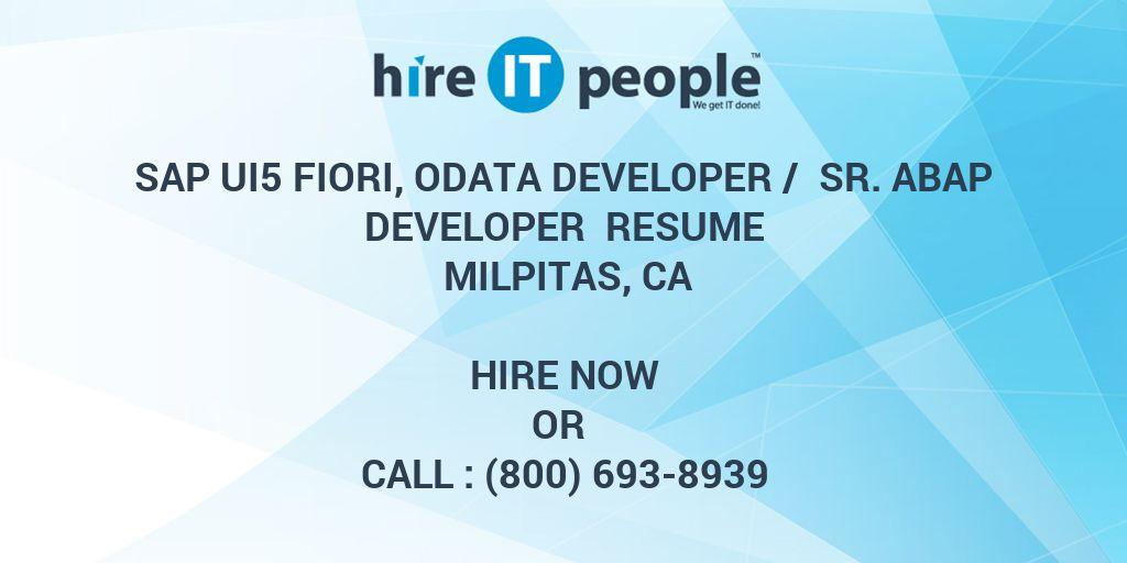SAP UI5 Fiori, OData Developer / Sr  ABAP developer Resume