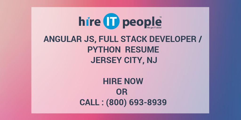 Angular JS, Full Stack Developer /Python Resume Jersey City