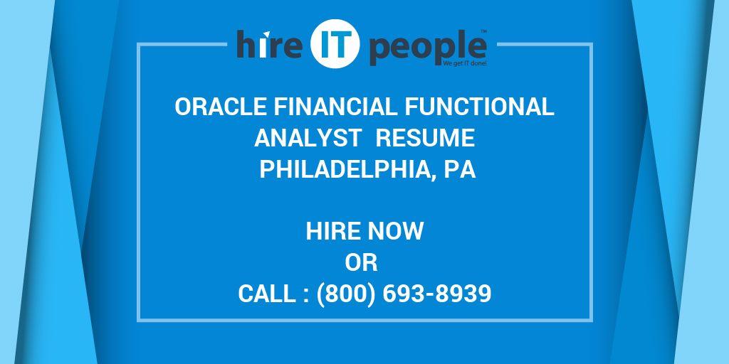 oracle financial functional analyst resume philadelphia