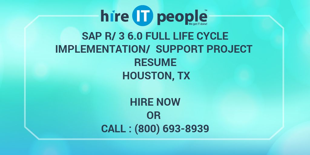 Sap R 3 6 0 Full Life Cycle Implementation Support