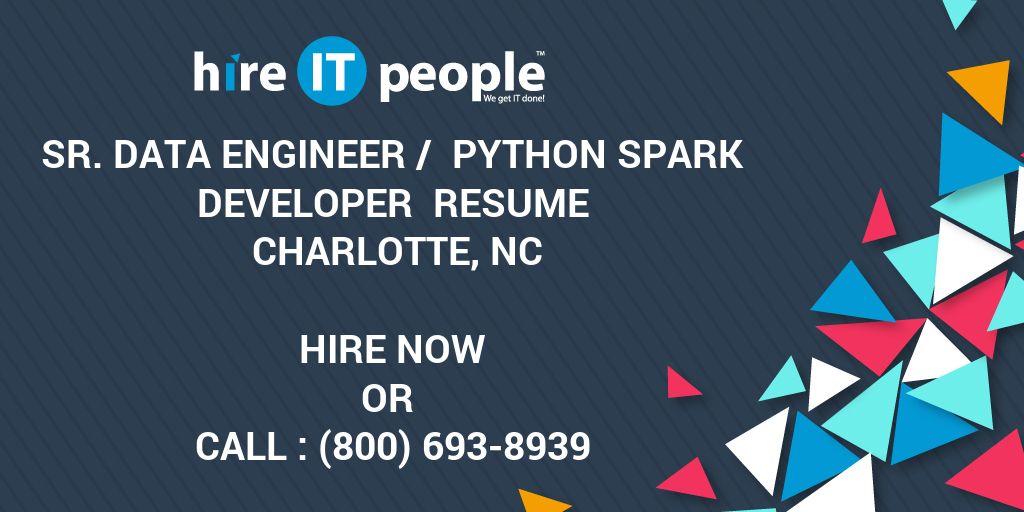 Sr  Data Engineer / Python Spark Developer Resume Charlotte