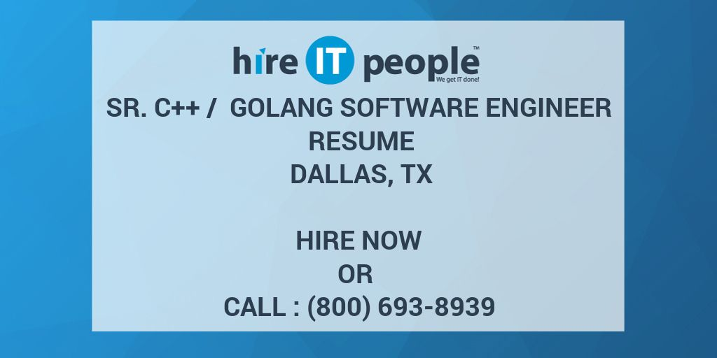 Sr  C++ / GoLang Software Engineer Resume Dallas, TX - Hire
