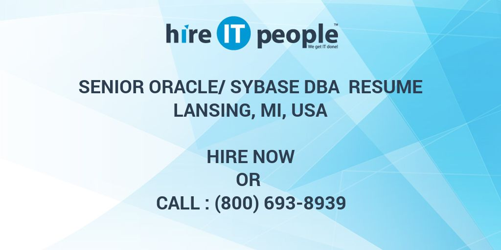 Payroll Clerk Resume Excel Senior Oraclesybase Dba Resume Lansing Mi Usa  Hire It People  Profile In A Resume Pdf with High School Student Resume Format Pdf Senior Oraclesybase Dba Resume Lansing Mi Usa  Hire It People  We Get  It Done Resume For Writers Excel