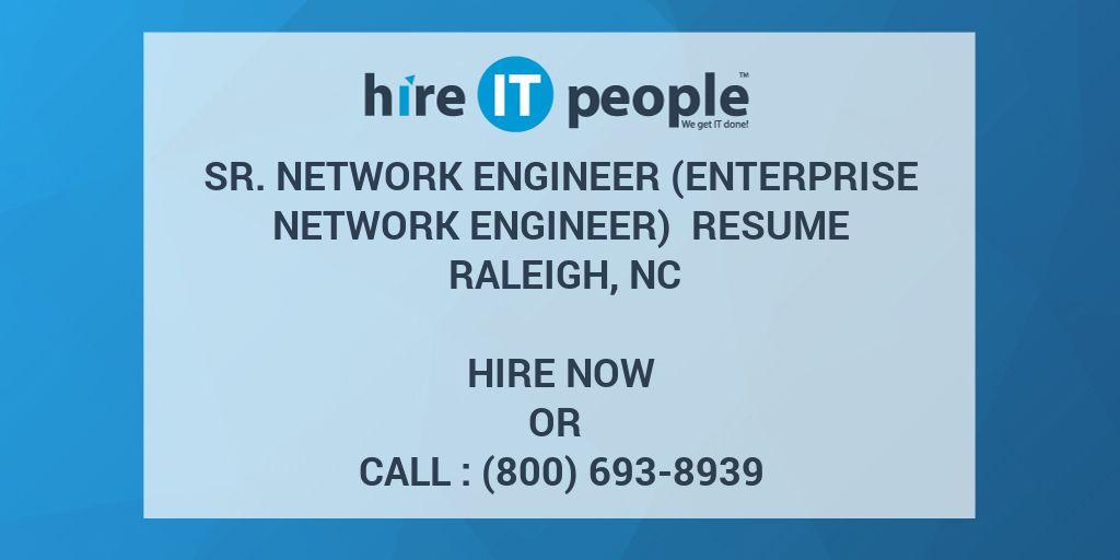 Sr  Network Engineer (Enterprise Network Engineer) Resume Raleigh