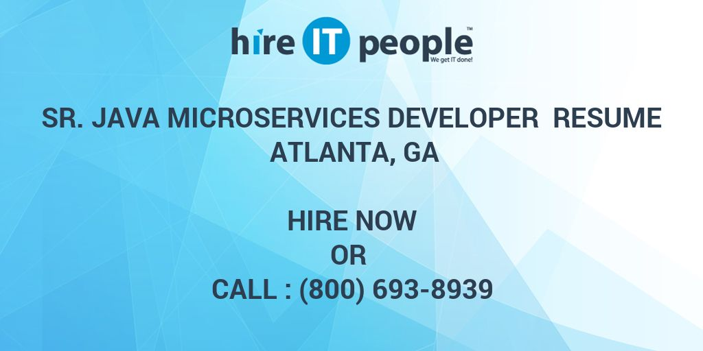 sr  java microservices developer resume atlanta  ga