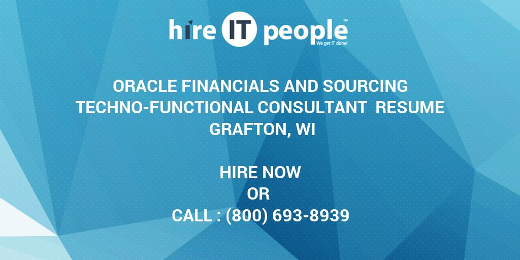 Oracle Financials and Sourcing Techno-Functional Consultant Resume