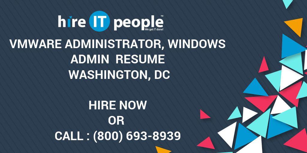 VMware Administrator, Windows Admin Resume Washington, DC