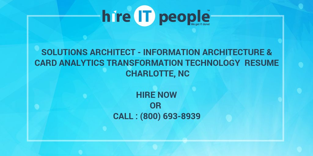 Solutions Architect - Information Architecture & Card
