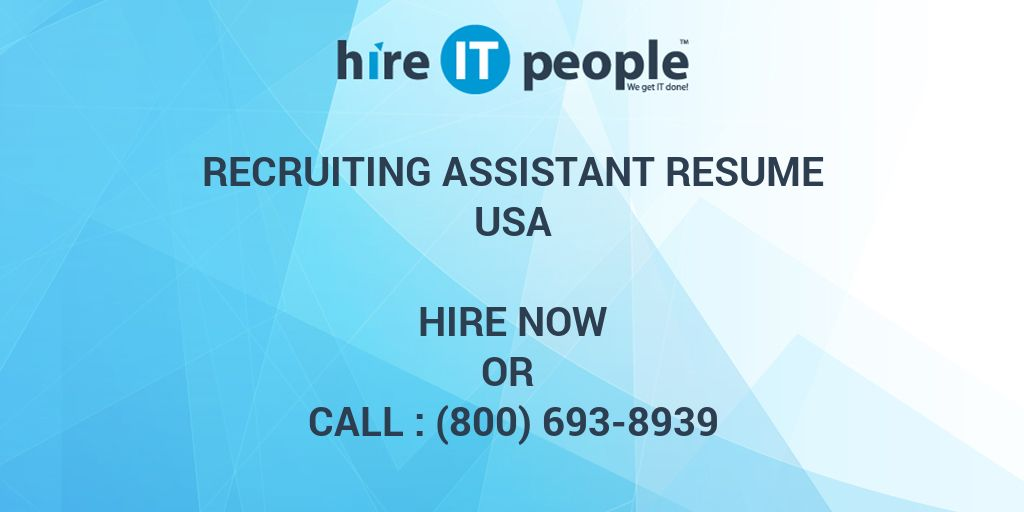 Sociology Resume Recruiting Assistant Resume  Hire It People  We Get It Done No Experience Resume Examples Word with Resume Builder For High School Students Word  Help Desk Resume Sample Excel