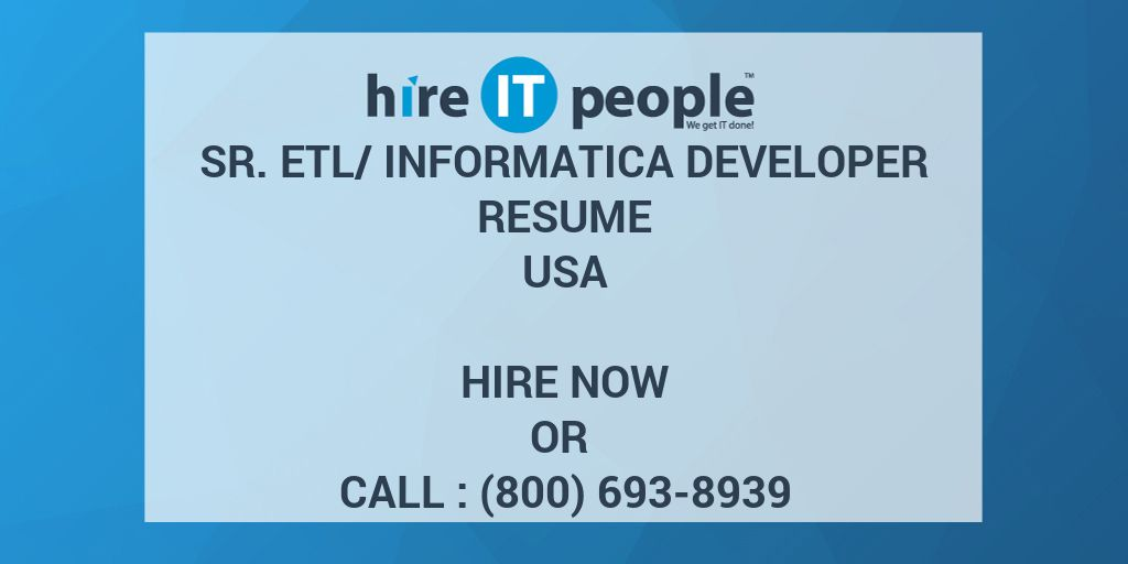 informatica developer resumes