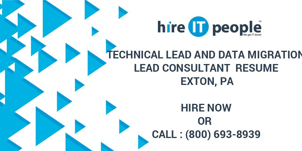 Technical Lead and Data Migration Lead Consultant Resume Exton, PA