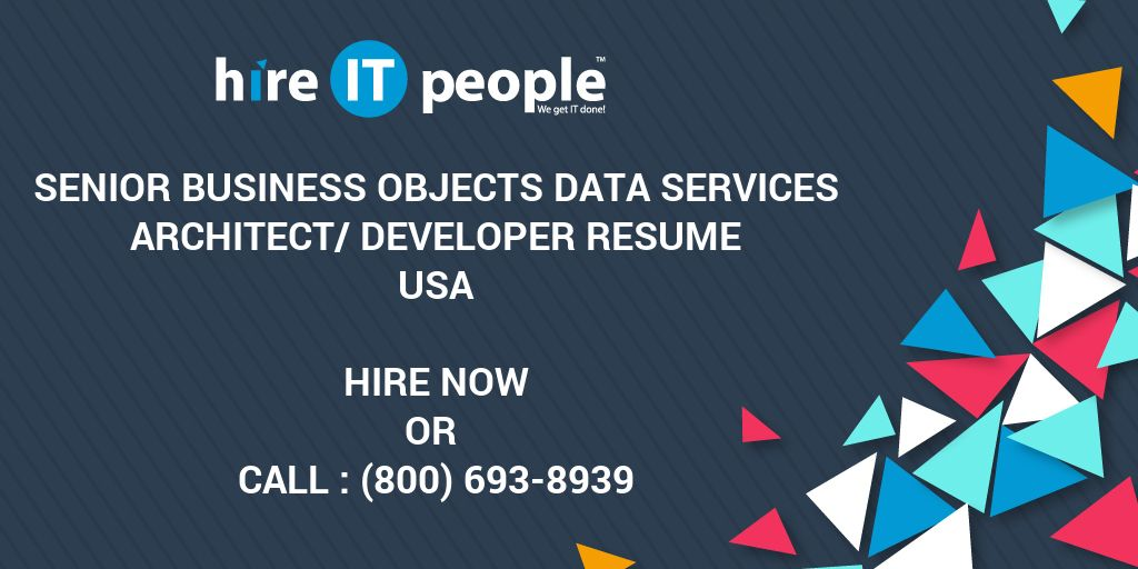 Senior Business Objects Data Services Architect/Developer Resume ...