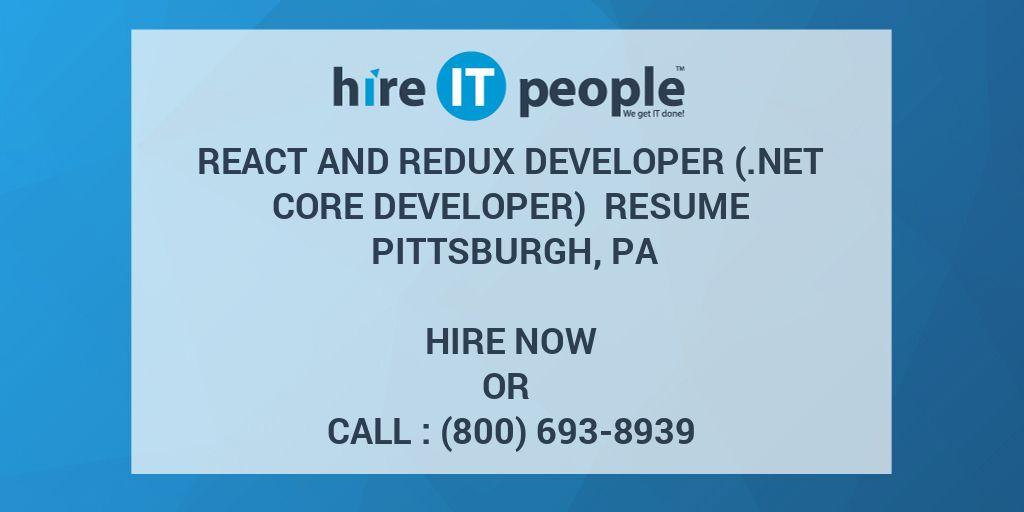 React and Redux Developer ( Net Core Developer) Resume
