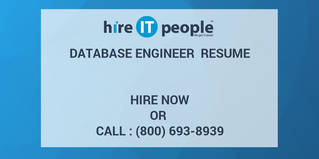 Hire It People Resume Database