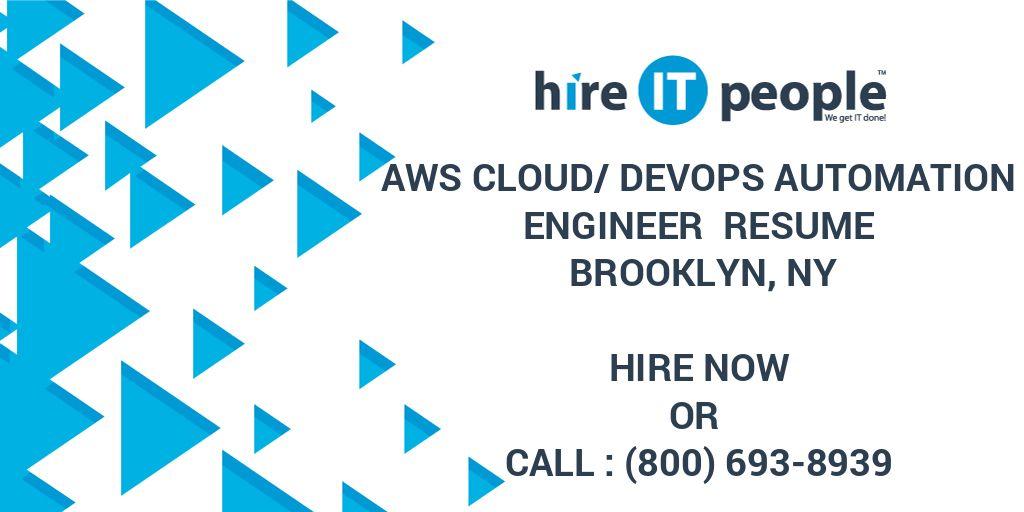 AWS Cloud/DevOps Automation Engineer Resume Brooklyn, NY