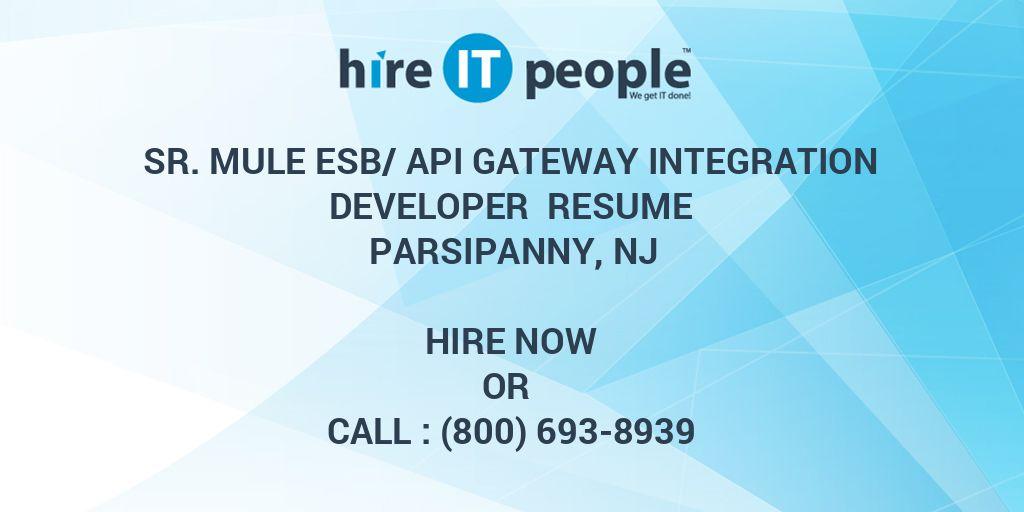 Sr  Mule ESB/API gateway integration developer Resume
