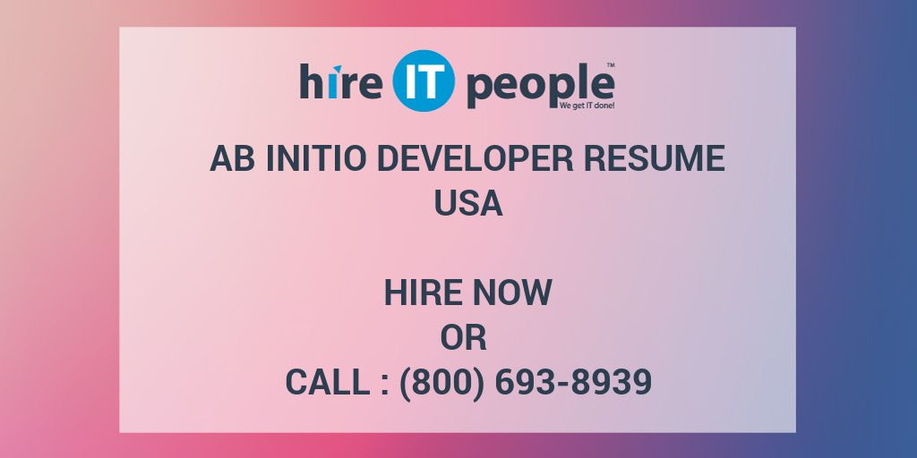 ab initio developer resume - hire it people